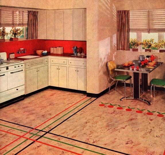 1000 images about linoleum on pinterest kitchens retro for Retro kitchen flooring