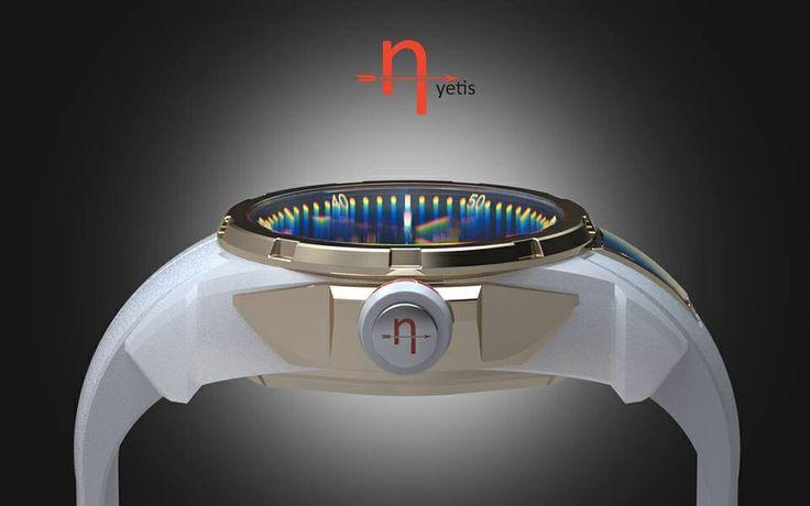 Redline smartwatch white ceramics automatic movement.