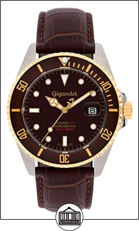 Gigandet Reloj de Hombre Automático Sea Ground Reloj de Buceo Analógico Cuero Marrón G2-019 de  ✿ Relojes para hombre - (Gama media/alta) ✿