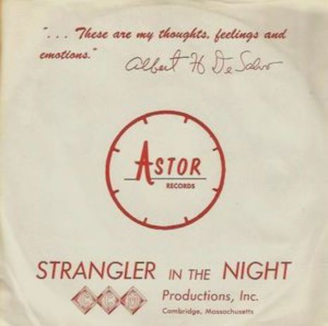 Albert DeSilvo's gruesome perversion of Sinatra's Stranger In The Night. The sleeve for the single