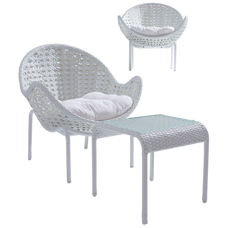 Hugo 3 Piece Hand Woven Wicker Setting From Domayne 699