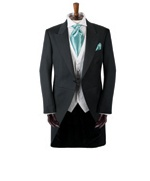 "suit idea but with purple cravat ""newbury"" moss bros £115 package hire cost"