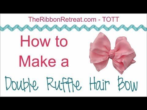 How to Make a Double Ruffle Hair Bow