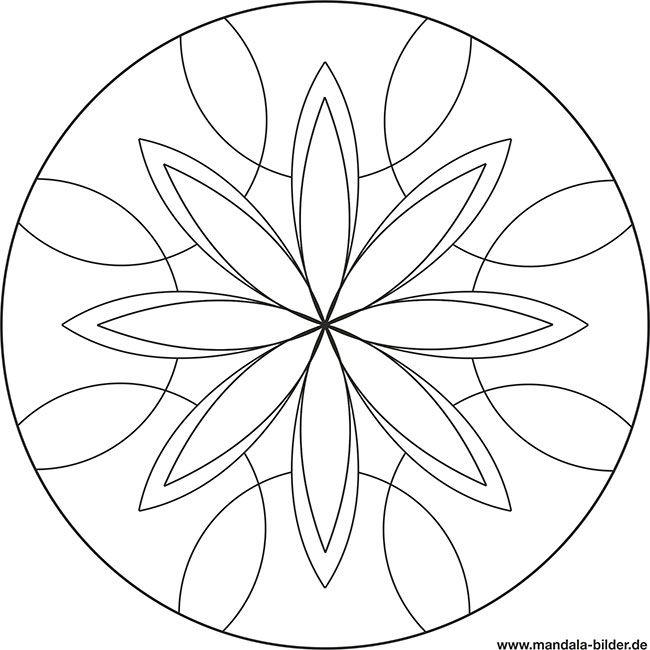 mandala ausmalbild für senioren zum gratis ausdrucken in