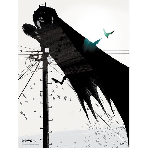 Batman 75th Birthday print, signed by Jock £30.00