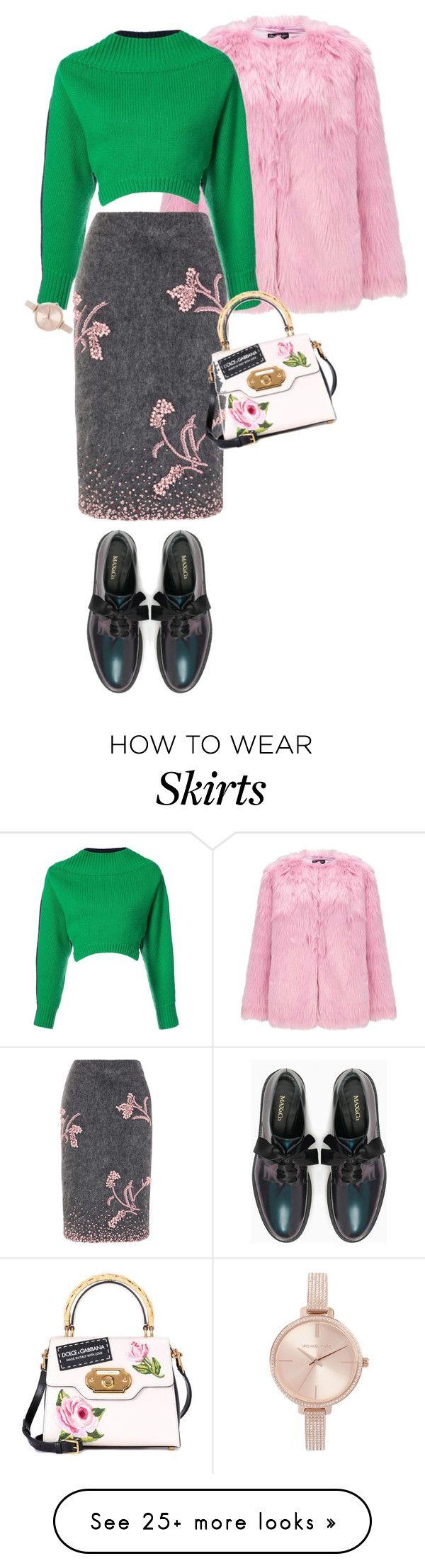 """how to wear: pencil skirt"" by missgirlgiuli on Polyvore featuring Miss Selfridge, Prada, Monse, Max&Co., Michael Kors and Dolce&Gabbana"