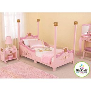 KidKraft - Princess Toddler Cot Love this when Aubree is a toddle!