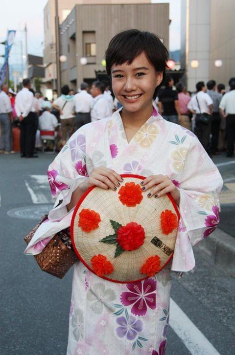 Toey in her kimono