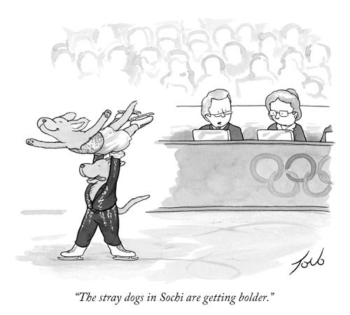 Take a look at Tom Toro's daily cartoon about the Sochi Winter Olympics.
