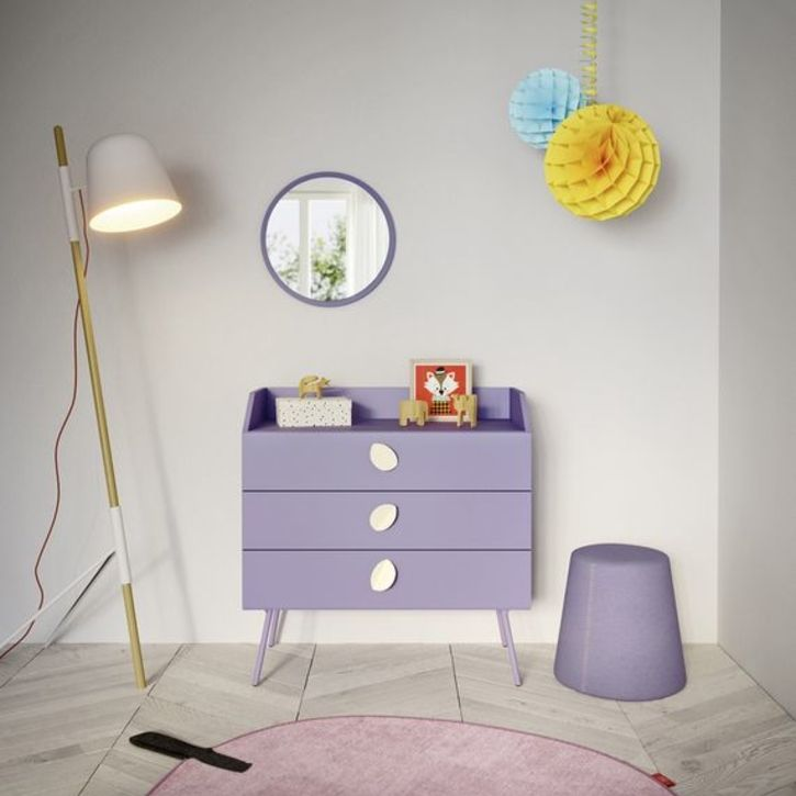 Children's purple chest of drawers by Nidi