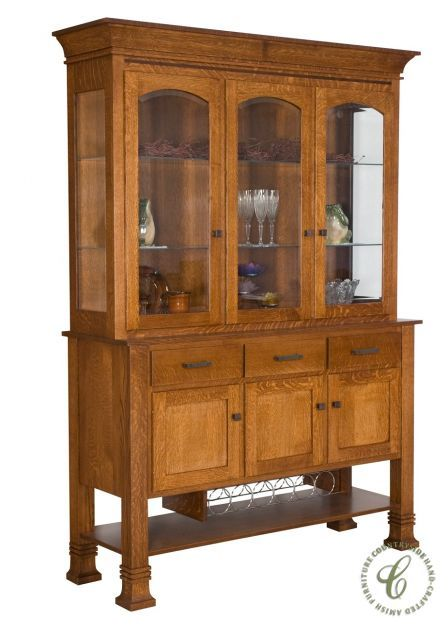 79 best images about amish hutches display cabinets on for Mission style corner hutch