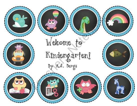 "Kindergarten Welcome to School Hats from AJ Bergs on TeachersNotebook.com -  (13 pages)  - This is a set of back to school hats that say, ""Welcome to Kindergarten!"""