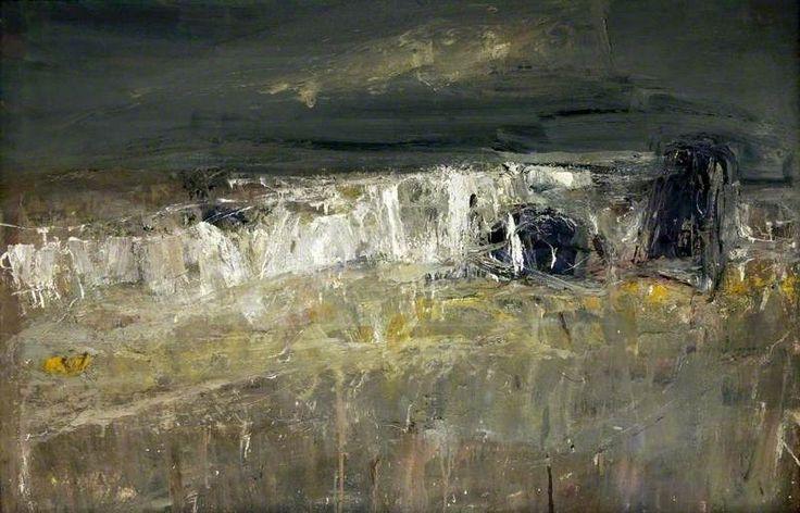 'A Stormy Sea No.1' (1960) Joan Eardley (1921-1963). Oil on hardboard, 96.5 x 145.5 cm.