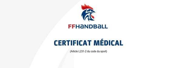 Fédération française de handball : FFHB: LE CERTIFICAT MÉDICAL : CE QU'IL FAUT RETENIR