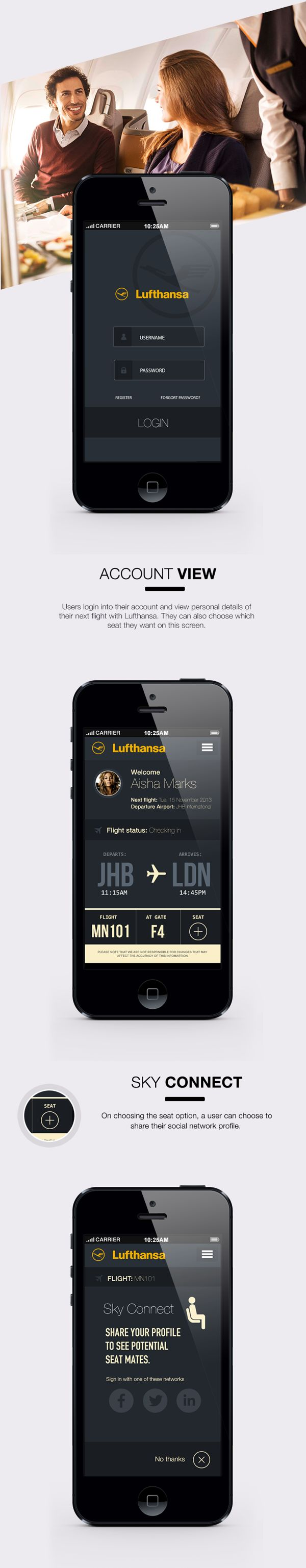 17 best images about flight what inspires me most lufthansa sky connect ios7 app on app design served