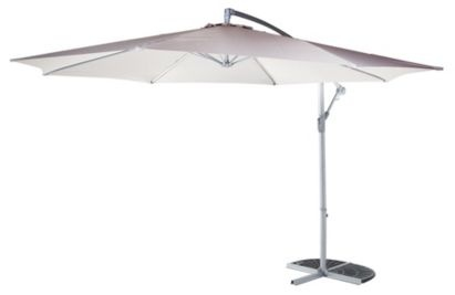 Blooma Gozo Overhanging Parasol Taupe, 5052931124398  £79.00
