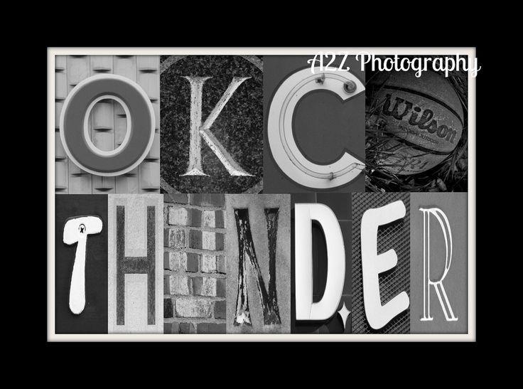Oklahoma Thunder Letter Art Print. $20.00, via Etsy.