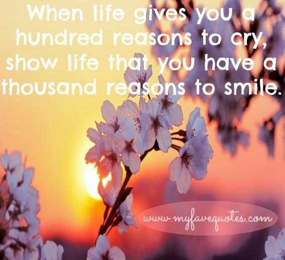 Smile quote via www.MyFaveQuotes.com