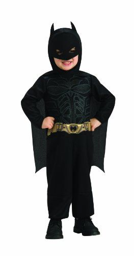 Batman Toddler Costume - This costume includes a printed jumpsuit, headpiece, and cape.