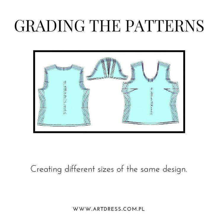 Before the production you need to decide what sizes of clothes you want to produce. Then you have to grade your pattern to selected sizes. This can be done using standard or customized sizing tables. If you need professional pattern sizing write to us at info@artdress.com.pl.