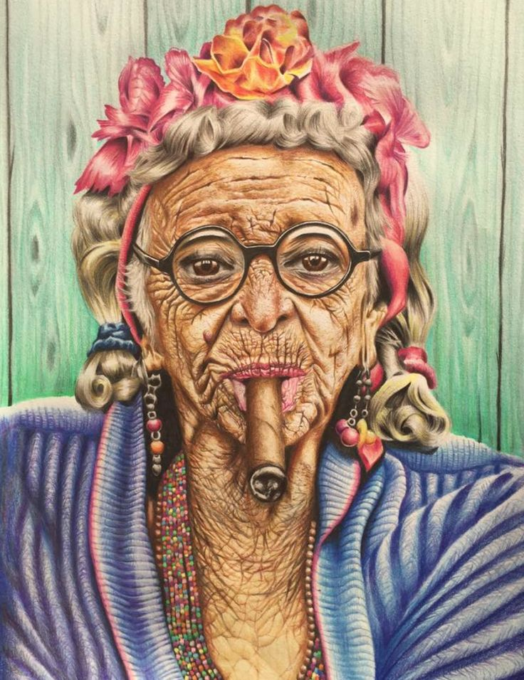 Mama Cubana by JB Vincent A3 Framed / Coloured pencil on paper Original artwork  Limited edition available in A4 - $120.00