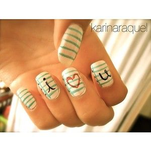 Cute fashionable nails, i love the strips :D