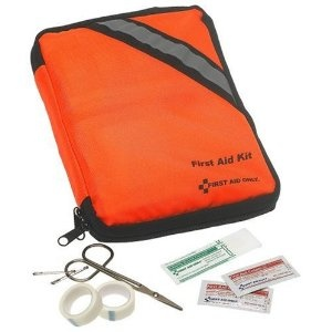 A first aid kit.  Have at least a basic first aid kit like this one ($18) can save your life and the people who are with you.