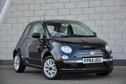 Used 2015 (64 reg) Black Fiat 500 1.2 Lounge 3dr [Start Stop] for sale on RAC Cars