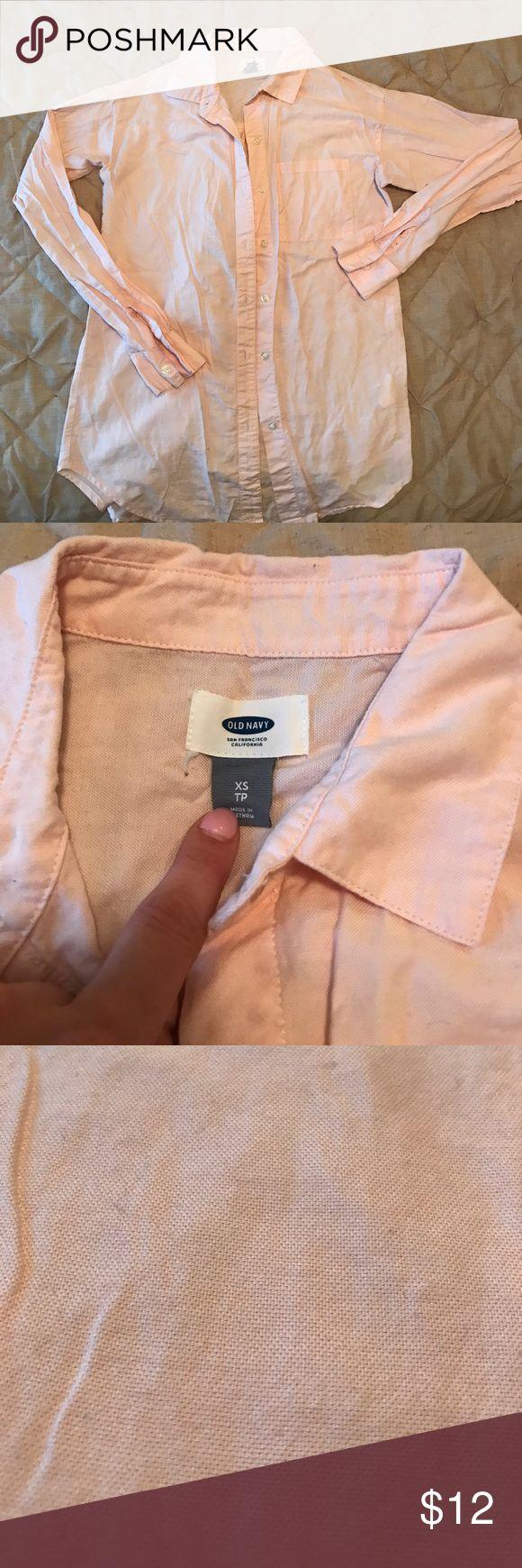 Baby pink oxford shirt from Old Navy Baby pink womens oxford from old navy Old Navy Tops Button Down Shirts