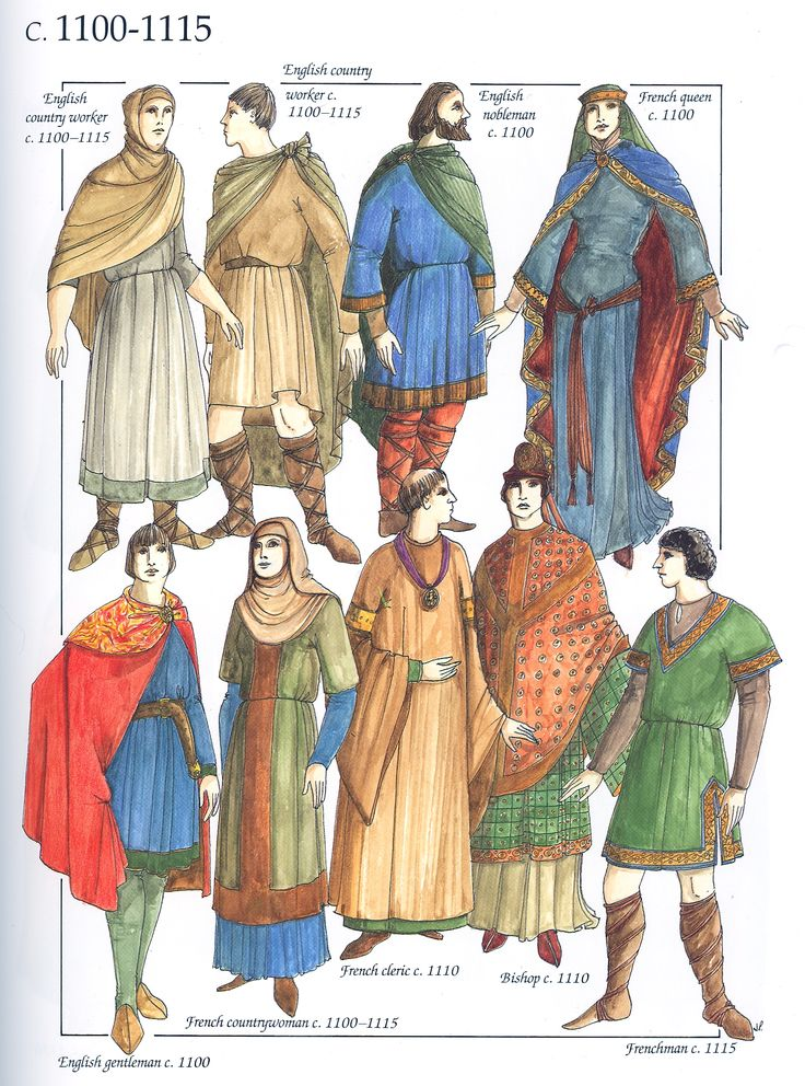 The Chronicle Of Western Costume By John Peacock P35 Middle Age Romanesque Period Pinterest