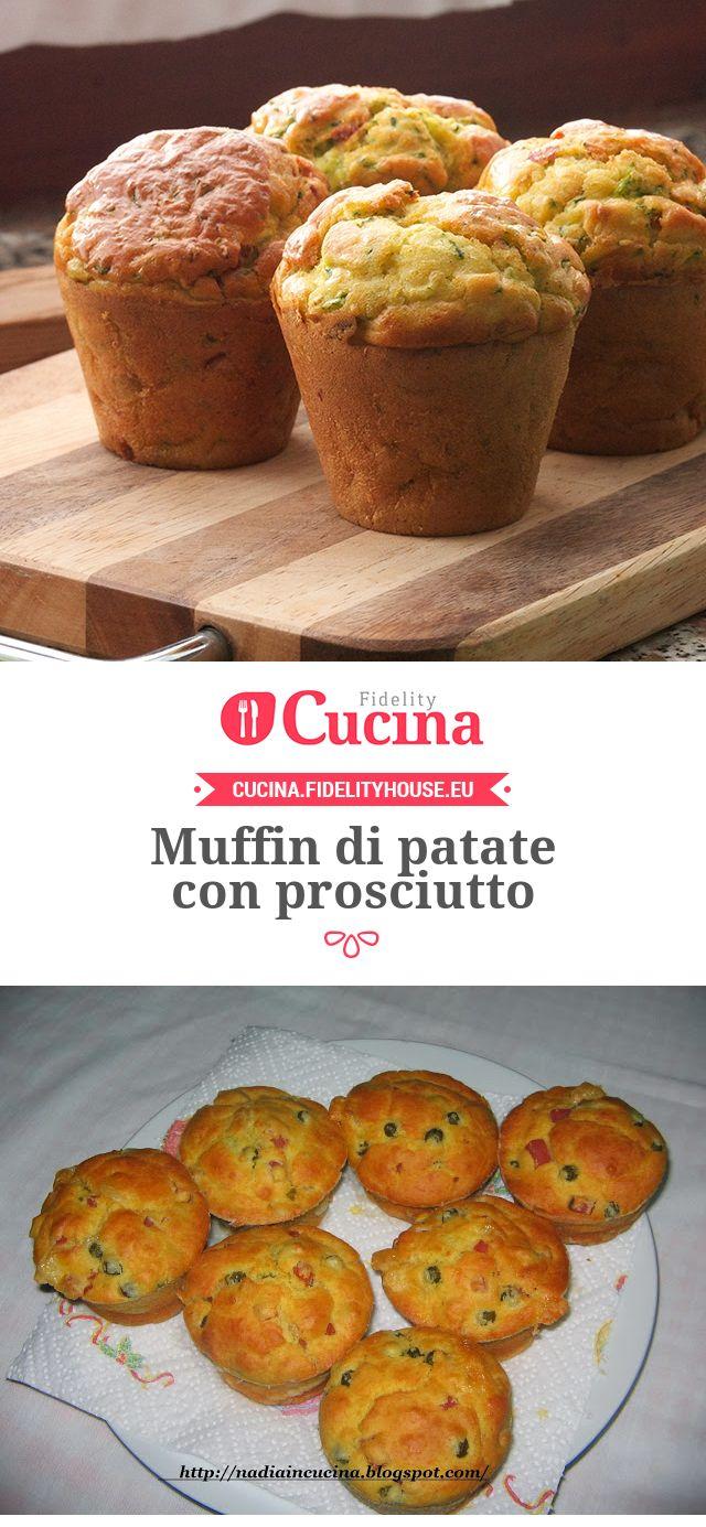 Muffin di patate con prosciutto