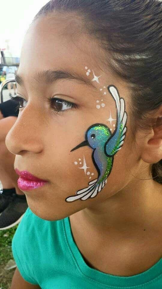 Hummingbird Face Painting.