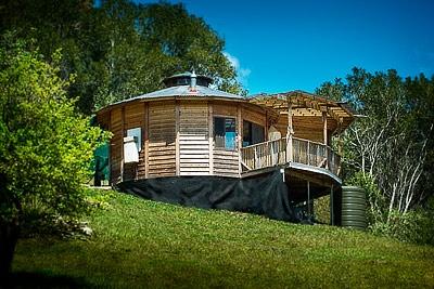 timber yurt.