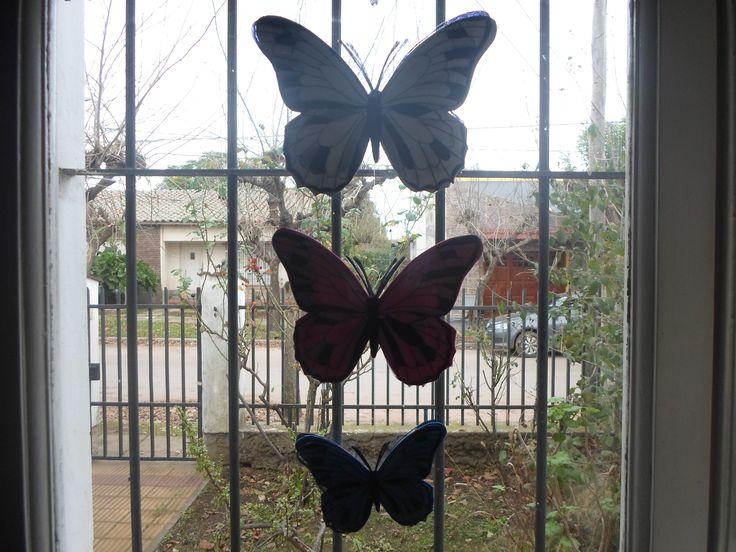 mariposas para adornar ventanas o puertas