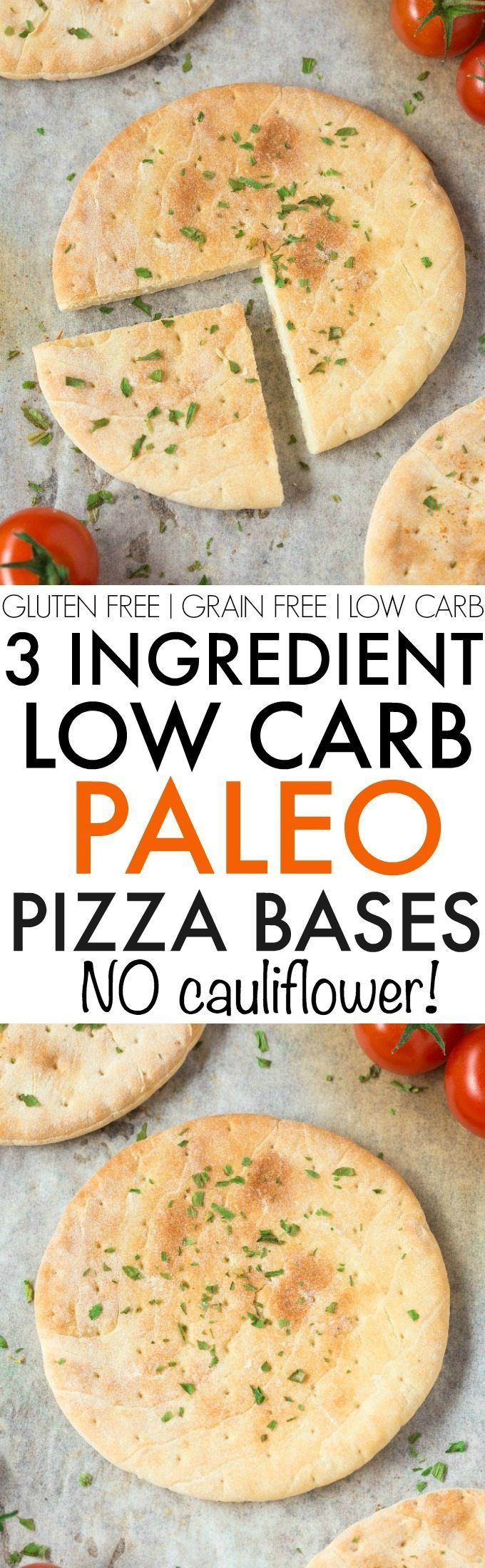 3 Ingredient Paleo Pizza Bases and Crusts- Quick, easy low carb and low calorie, NO Cauliflower and NO oven needed- They are made stovetop and freezer friendly! {grain free, paleo, gluten free}- thebigmansworld.com
