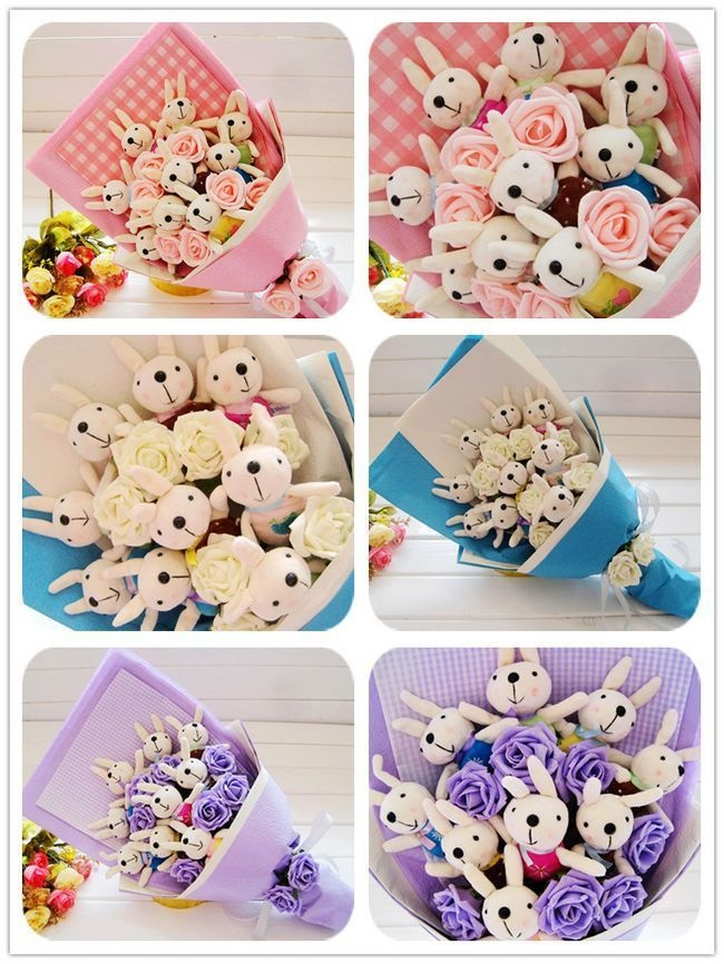 That's a whole lotta bunnies! Bunny Bouquets :o)