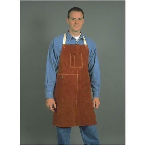 "Leather Welding Apron w/ 42"" Bib 
