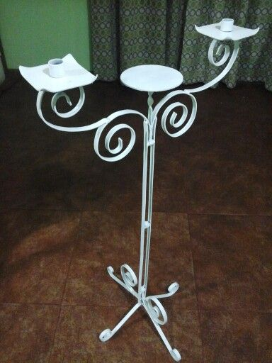 Candelabro pedestal doble   consultas al correo artefierro07@gmail.com