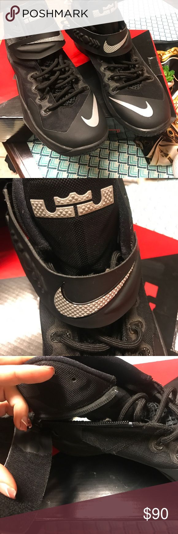 Nike Lebron Zooms VIII All black Nike Lebron zoom soldier VIII. Strap zips up the sides. Like new condition. Comes with box. Nike Shoes Sneakers