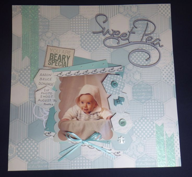 Use of chipboard saying, buttons for embellishments