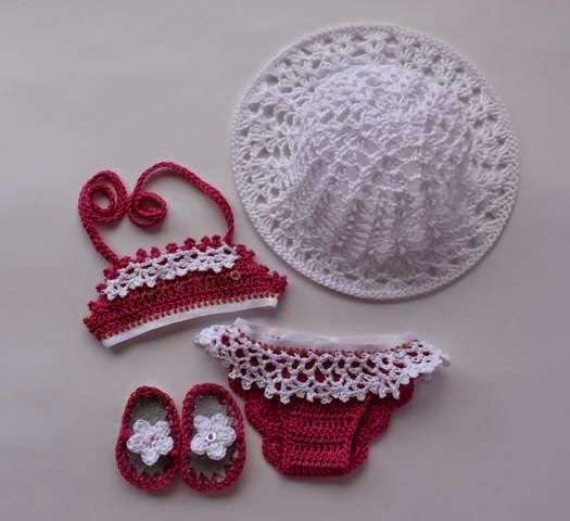 Sidney Artesanato: Biquíni de Crochet para menininhas.....                                                                                                                                                                                 Mais