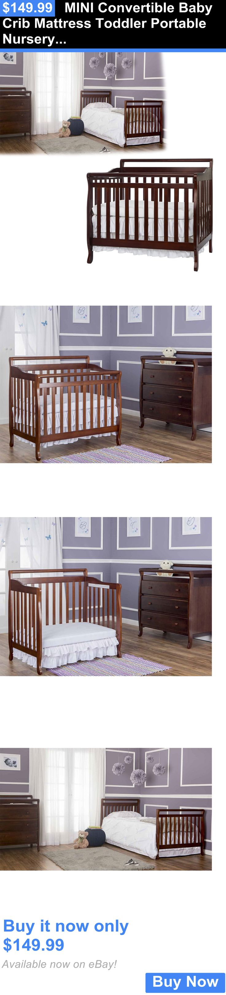 Crib for sale sheffield - Baby Nursery Mini Convertible Baby Crib Mattress Toddler Portable Nursery Bed Changer Side Buy It