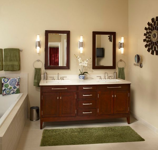 Contemporary Neutral Bathroom With Dark Wood Accents: Best 25+ Brown Bathroom Decor Ideas On Pinterest