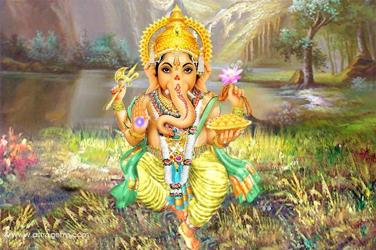 Beautiful rendition of Ganesha in forest setting