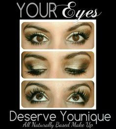 Create that perfect look with Younique Mineral Pigments!  www.azbeautiful3Dlashes.com