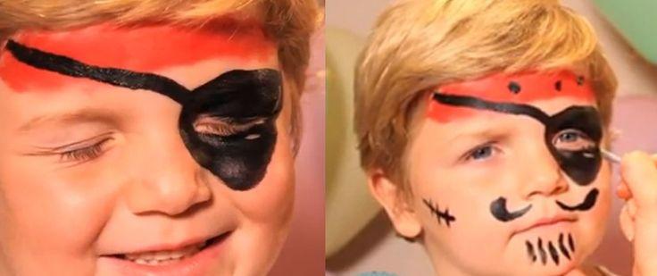 Maquillaje de pirata para Carnaval - http://www.manualidadeson.com/maquillaje-de-pirata-para-carnaval.html