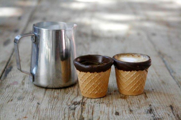 Geniaal: eetbare espressokopjes van koekjes en chocolade - Culy.nl