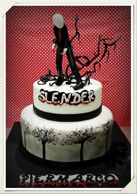 Slender Man Cake Pasticceriadece Bari Anime Cake