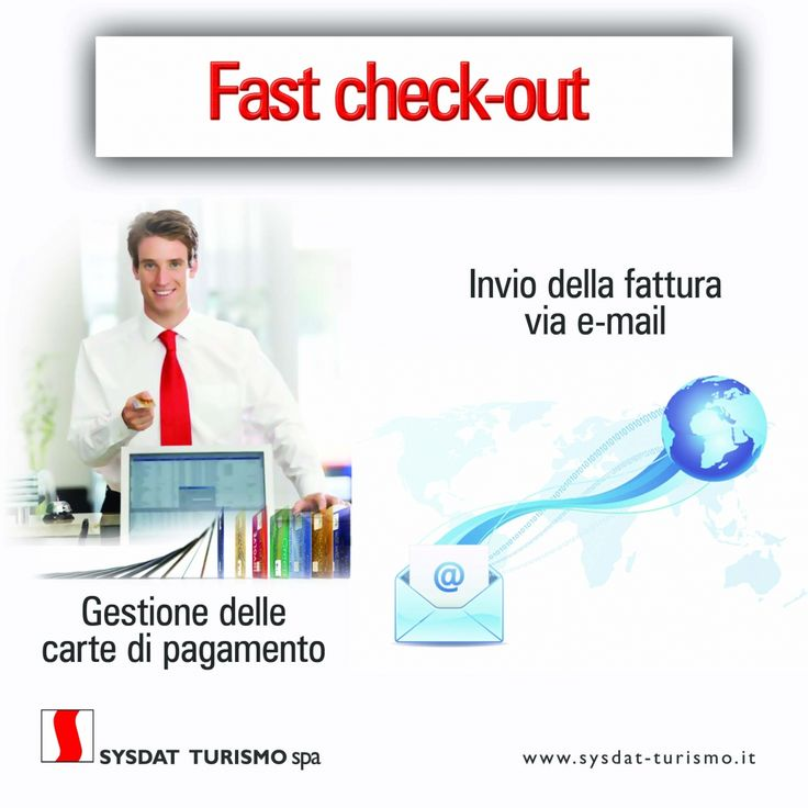 Fast check-in & Fast check-out   News Sysdat Turismo Spa