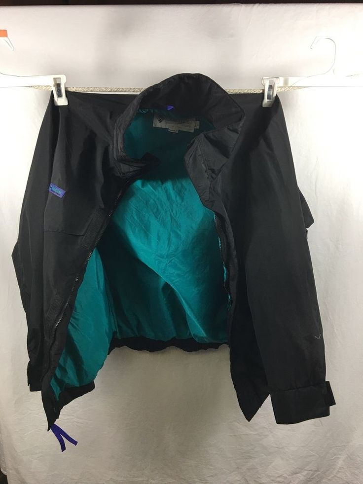 Columbia Sailing Jacket Mens Size M Whirlibird Vintage 90s Black Water Windproof #Columbia #SoftShell